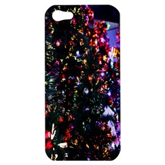 Lit Christmas Trees Prelit Creating A Colorful Pattern Apple iPhone 5 Hardshell Case