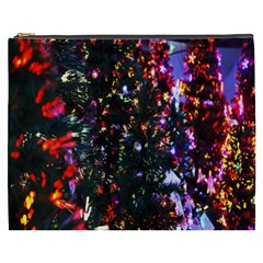 Lit Christmas Trees Prelit Creating A Colorful Pattern Cosmetic Bag (XXXL)