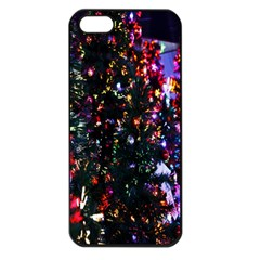 Lit Christmas Trees Prelit Creating A Colorful Pattern Apple iPhone 5 Seamless Case (Black)
