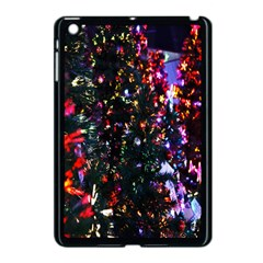 Lit Christmas Trees Prelit Creating A Colorful Pattern Apple iPad Mini Case (Black)