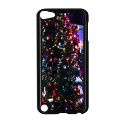 Lit Christmas Trees Prelit Creating A Colorful Pattern Apple iPod Touch 5 Case (Black)