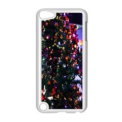 Lit Christmas Trees Prelit Creating A Colorful Pattern Apple iPod Touch 5 Case (White)
