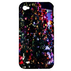 Lit Christmas Trees Prelit Creating A Colorful Pattern Apple iPhone 4/4S Hardshell Case (PC+Silicone)