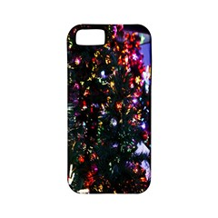 Lit Christmas Trees Prelit Creating A Colorful Pattern Apple iPhone 5 Classic Hardshell Case (PC+Silicone)
