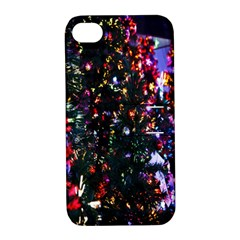 Lit Christmas Trees Prelit Creating A Colorful Pattern Apple iPhone 4/4S Hardshell Case with Stand