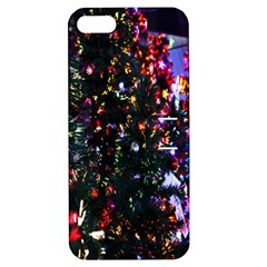 Lit Christmas Trees Prelit Creating A Colorful Pattern Apple iPhone 5 Hardshell Case with Stand
