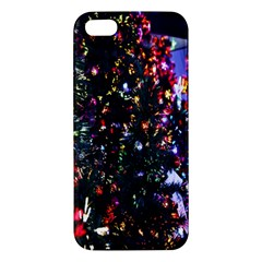 Lit Christmas Trees Prelit Creating A Colorful Pattern Apple iPhone 5 Premium Hardshell Case