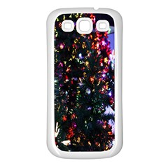 Lit Christmas Trees Prelit Creating A Colorful Pattern Samsung Galaxy S3 Back Case (White)