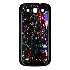 Lit Christmas Trees Prelit Creating A Colorful Pattern Samsung Galaxy S3 Back Case (Black)