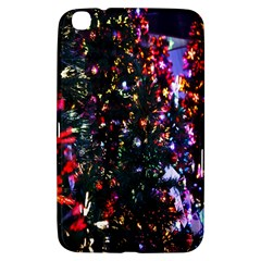 Lit Christmas Trees Prelit Creating A Colorful Pattern Samsung Galaxy Tab 3 (8 ) T3100 Hardshell Case