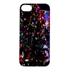 Lit Christmas Trees Prelit Creating A Colorful Pattern Apple iPhone 5S/ SE Hardshell Case