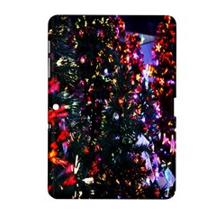 Lit Christmas Trees Prelit Creating A Colorful Pattern Samsung Galaxy Tab 2 (10 1 ) P5100 Hardshell Case