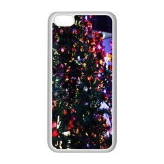 Lit Christmas Trees Prelit Creating A Colorful Pattern Apple iPhone 5C Seamless Case (White)