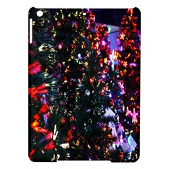 Lit Christmas Trees Prelit Creating A Colorful Pattern iPad Air Hardshell Cases