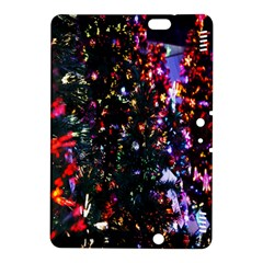 Lit Christmas Trees Prelit Creating A Colorful Pattern Kindle Fire HDX 8.9  Hardshell Case