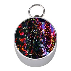 Lit Christmas Trees Prelit Creating A Colorful Pattern Mini Silver Compasses