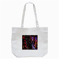 Lit Christmas Trees Prelit Creating A Colorful Pattern Tote Bag (white)