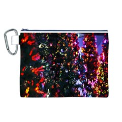 Lit Christmas Trees Prelit Creating A Colorful Pattern Canvas Cosmetic Bag (L)