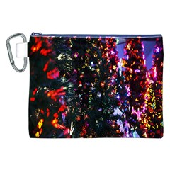 Lit Christmas Trees Prelit Creating A Colorful Pattern Canvas Cosmetic Bag (xxl)