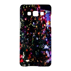 Lit Christmas Trees Prelit Creating A Colorful Pattern Samsung Galaxy A5 Hardshell Case