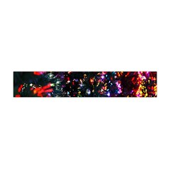 Lit Christmas Trees Prelit Creating A Colorful Pattern Flano Scarf (Mini)