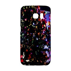 Lit Christmas Trees Prelit Creating A Colorful Pattern Galaxy S6 Edge