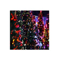 Lit Christmas Trees Prelit Creating A Colorful Pattern Satin Bandana Scarf