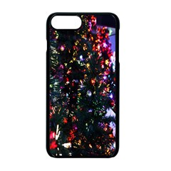 Lit Christmas Trees Prelit Creating A Colorful Pattern Apple Iphone 7 Plus Seamless Case (black)