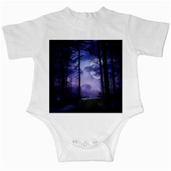 Moonlit A Forest At Night With A Full Moon Infant Creepers