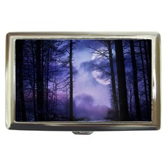Moonlit A Forest At Night With A Full Moon Cigarette Money Cases