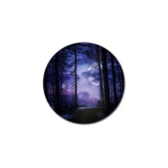 Moonlit A Forest At Night With A Full Moon Golf Ball Marker (10 pack)