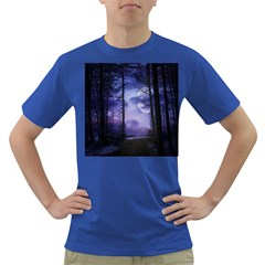 Moonlit A Forest At Night With A Full Moon Dark T Shirt