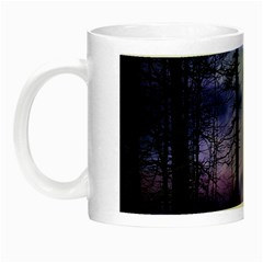 Moonlit A Forest At Night With A Full Moon Night Luminous Mugs