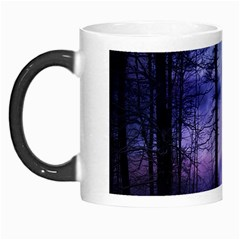 Moonlit A Forest At Night With A Full Moon Morph Mugs