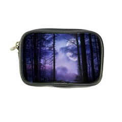 Moonlit A Forest At Night With A Full Moon Coin Purse