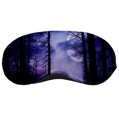 Moonlit A Forest At Night With A Full Moon Sleeping Masks