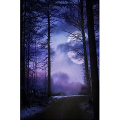 Moonlit A Forest At Night With A Full Moon 5 5  X 8 5  Notebooks