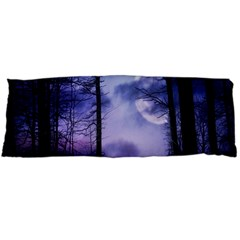 Moonlit A Forest At Night With A Full Moon Body Pillow Case (Dakimakura)