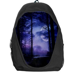 Moonlit A Forest At Night With A Full Moon Backpack Bag
