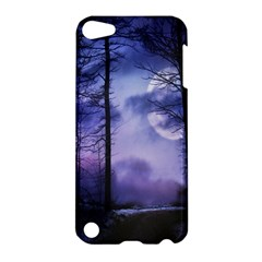 Moonlit A Forest At Night With A Full Moon Apple iPod Touch 5 Hardshell Case