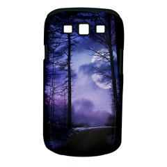 Moonlit A Forest At Night With A Full Moon Samsung Galaxy S III Classic Hardshell Case (PC+Silicone)