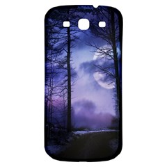 Moonlit A Forest At Night With A Full Moon Samsung Galaxy S3 S III Classic Hardshell Back Case