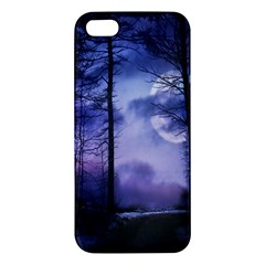 Moonlit A Forest At Night With A Full Moon Apple iPhone 5 Premium Hardshell Case
