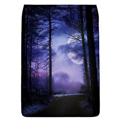 Moonlit A Forest At Night With A Full Moon Flap Covers (L)