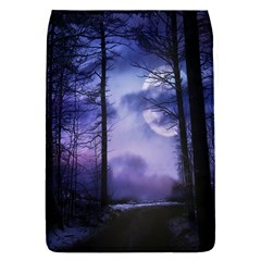 Moonlit A Forest At Night With A Full Moon Flap Covers (S)