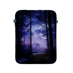 Moonlit A Forest At Night With A Full Moon Apple Ipad 2/3/4 Protective Soft Cases