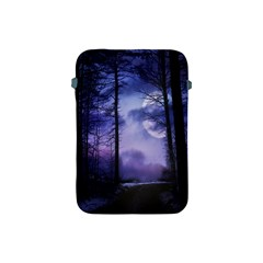 Moonlit A Forest At Night With A Full Moon Apple iPad Mini Protective Soft Cases