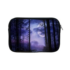 Moonlit A Forest At Night With A Full Moon Apple Ipad Mini Zipper Cases