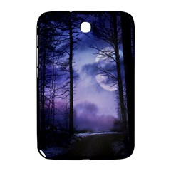 Moonlit A Forest At Night With A Full Moon Samsung Galaxy Note 8.0 N5100 Hardshell Case