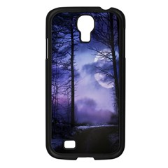 Moonlit A Forest At Night With A Full Moon Samsung Galaxy S4 I9500/ I9505 Case (black)